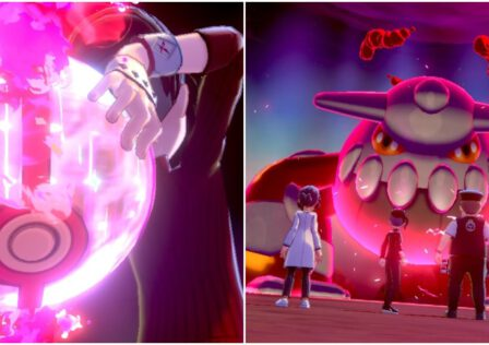 Pokemon-Sword-Shield-Trainer-Throwing-Giant-Ball-Heatran-Max-Raid-Dynamax-Adventure.jpg